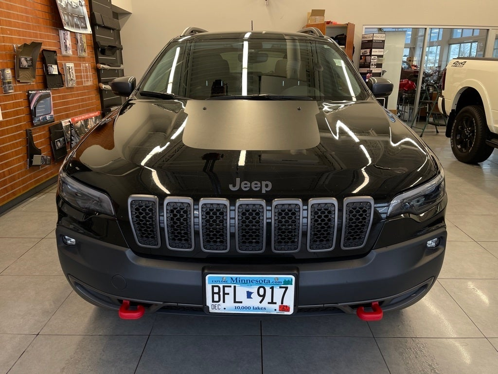 Used 2019 Jeep Cherokee Trailhawk with VIN 1C4PJMBX4KD141260 for sale in Monticello, Minnesota